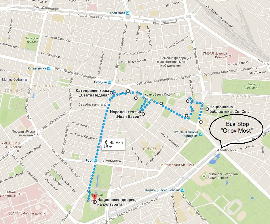 Exploring-the-city-center-of-Sofia-map
