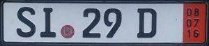 Ausfuhrkennzeichen Transit (красные) номера