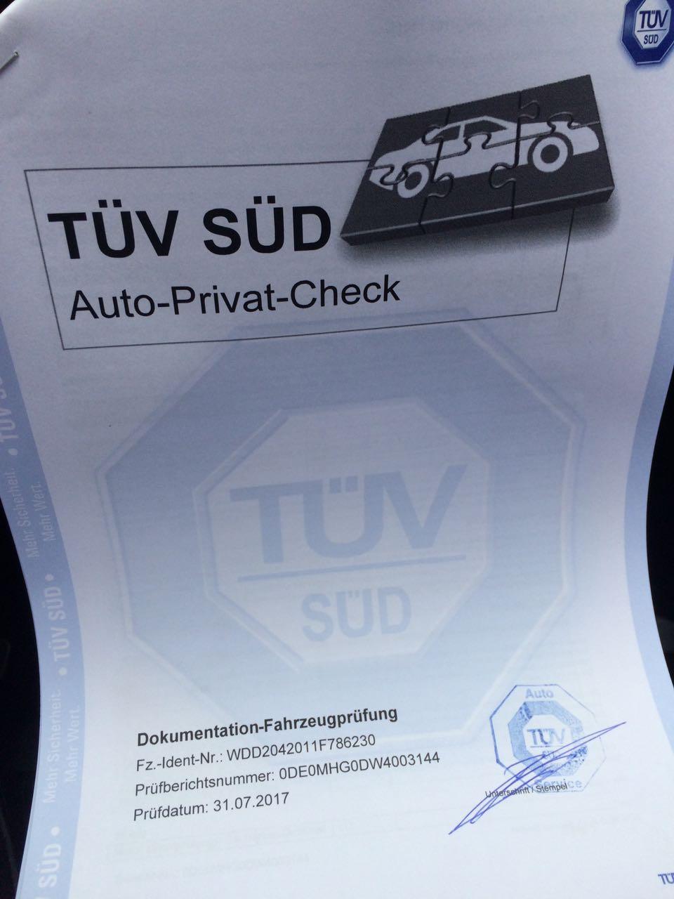 Preminat technicheski pregled na myasto v Germaniya. Mercedes C 200 CDI 2.2D Avantgarde , 136 к.с. 10.08.2017 TÜV (1)