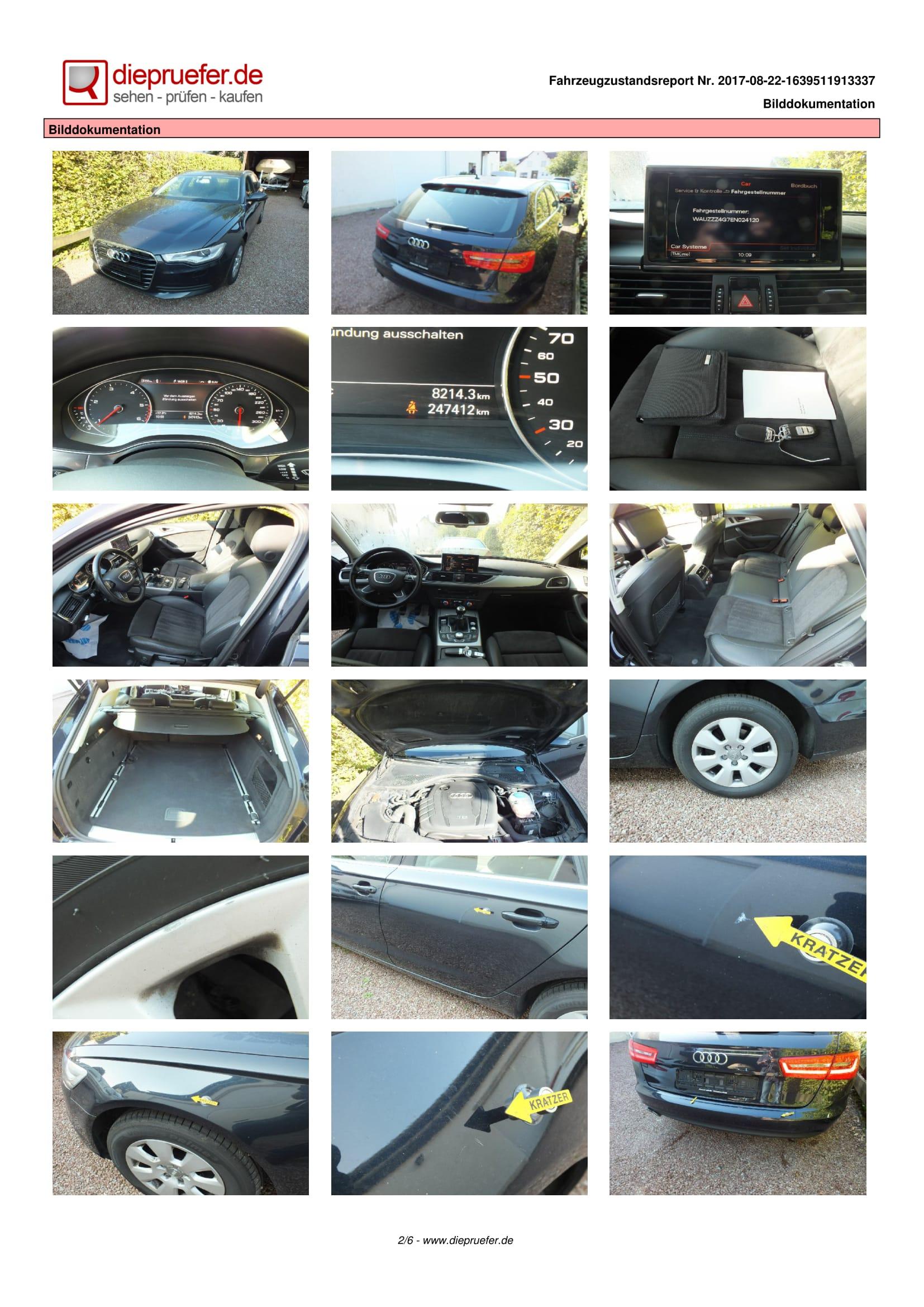 Protokol ot tehnicheska proverka Audi A6 Kombi 2013; 2.0 TDI; 177 hp; 09.09.2013 (2)