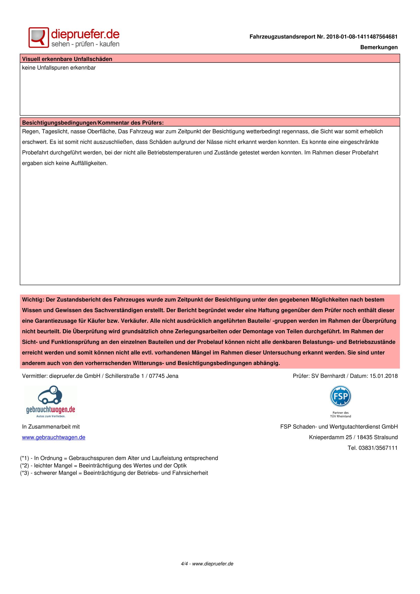 Протокол Проверка на употребяван автомобил в Германия - VW Passat Variant 2014 2.0 TDI 140 к.с. (4)