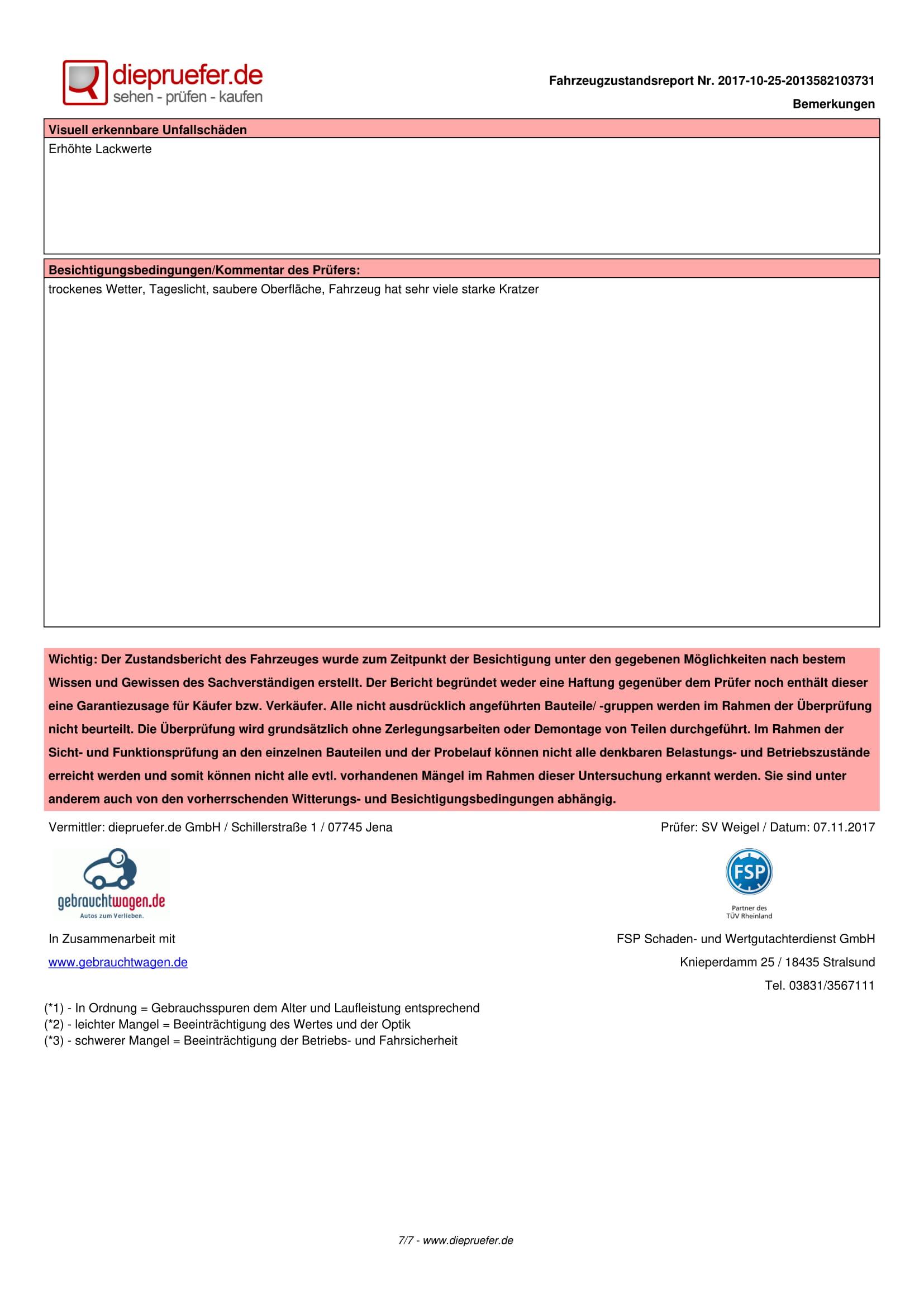 Протокол проверка на употребяван автомобил - Opel Insignia Kombi-7