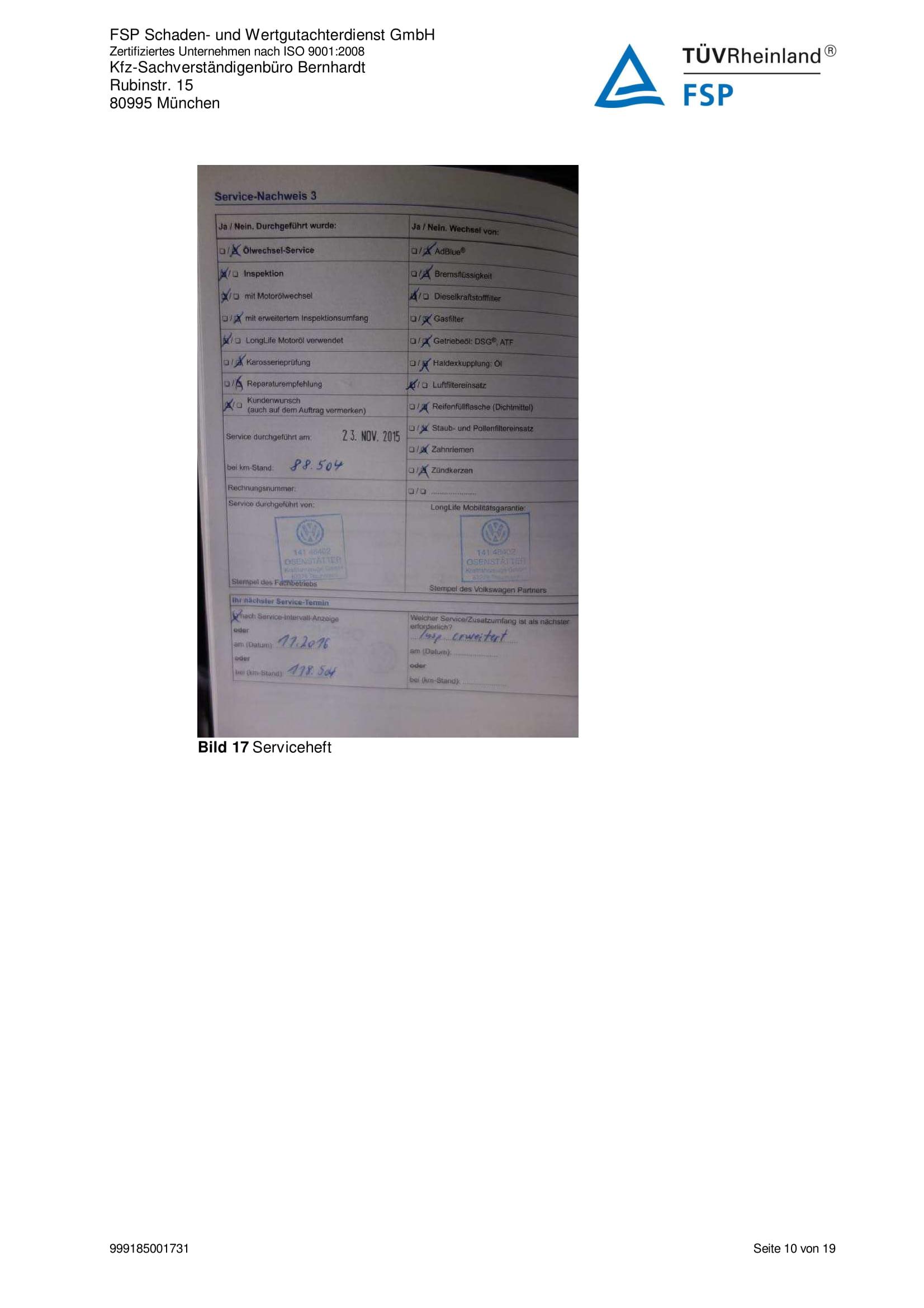 Снимки Проверка на употребяван автомобил в Германия - VW Passat Variant 2014 2.0 TDI 140 к.с. (10)