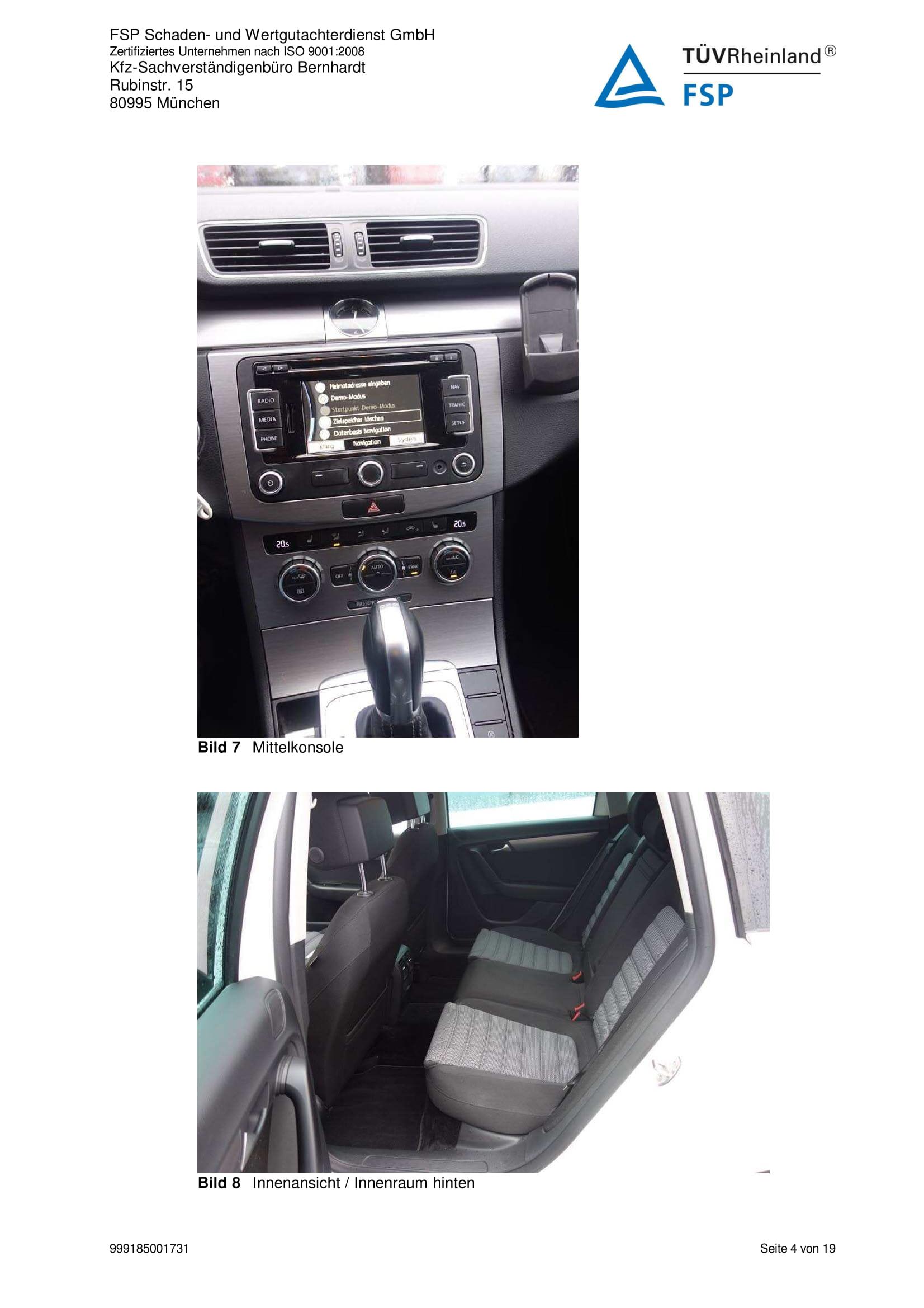 Снимки Проверка на употребяван автомобил в Германия - VW Passat Variant 2014 2.0 TDI 140 к.с. (4)