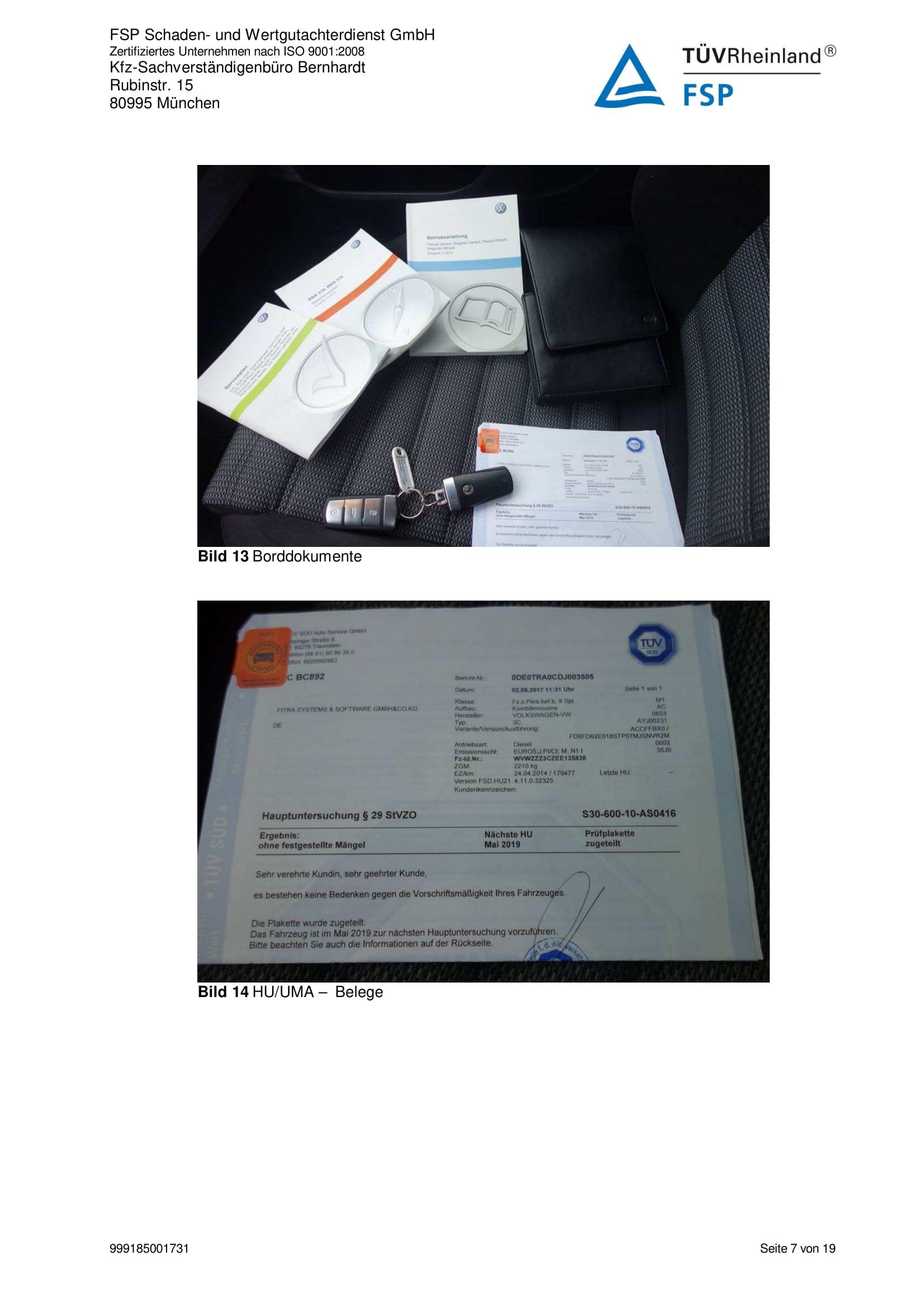 Снимки Проверка на употребяван автомобил в Германия - VW Passat Variant 2014 2.0 TDI 140 к.с. (7)