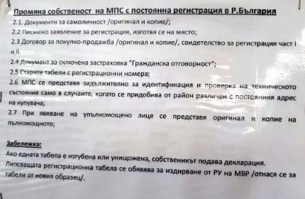 Пост за подаване и получаване на документи в КАТ Варна