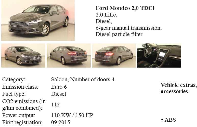 Ford Mondeo obqva ot autobid