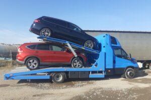 Транспорт, превоз, платформа, автовоз на автомобили, коли, мотори от Германия до България (1)