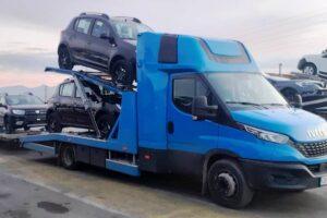 Транспорт, превоз, платформа, автовоз за чисто нови автомобили Дачия от България до Германия (7)