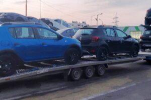 Транспорт, превоз, платформа, автовоз за чисто нови автомобили Дачия от България до Германия (8)