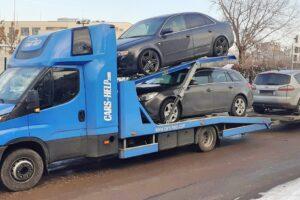 14. Транспорт, превоз, платформа, автовоз на Audi A4, Opel Insignia, Ford Smax, Mini Cooper (14)
