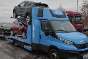 16. Транспорт, превоз, платформа, автовоз за чисто нови автомобили Nissan от България до Германия (16)