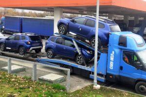 17. Транспорт, превоз, платформа, автовоз за чисто нови автомобили Dacia Duster от България до Германия (17)