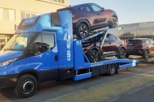 18. Транспорт, превоз, платформа, автовоз за чисто нови автомобили Nissan Juke от България до Германия (18)