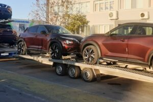 19. Транспорт, превоз, платформа, автовоз за чисто нови автомобили Nissan Juke от България до Германия (19)