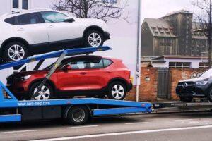 24. Транспорт, превоз, платформа, автовоз на Volvo Xc40, Nissan Quashqai, Mercedes GLC Coupe 2020 hybrid diesel+electricity, honda n600