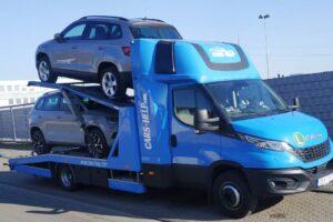 31. Транспорт, превоз, платформа, автовоз на чисто нови Skoda Camiq