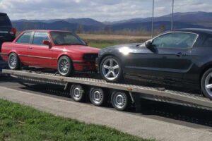 40. Транспорт, превоз, платформа, автовоз на Toyota LandCruiser, BMW 318, Ford Mustang от България до Германия. Холандия