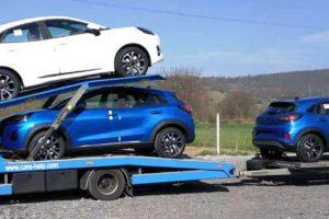 42. Транспорт, превоз, платформа, автовоз на чисто нови Hyundai Ford Puma от Румъния до Австрия