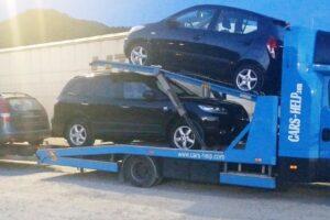 43. Транспорт, превоз, платформа, автовоз Hyundai i10, Hyundai SantaFe, Hyundai i30, Toyota Auris от Германия до България