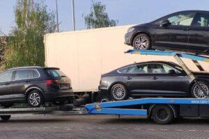 44. Транспорт, превоз, платформа, автовоз VW Tiguan, VW Golf, Audi A5 Zörbig - Amsterdam