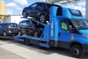 46. Транспорт, превоз, платформа, автовоз от Германия до България на Kia Niro, VW Sharan, Seat Alhambra, Peugeot 206 от Германия до България