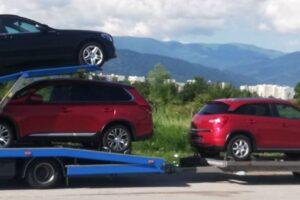 47. Транспорт, превоз, платформа, автовоз от Германия до България на Mercedes Cklasse Kombi, Mitsubishi Outlander, Citroen Berlingo, Citroen C4