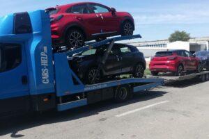 51. Транспорт, превоз, платформа, автовоз на чисто нови Ford Puma от Румъния до Швейцария