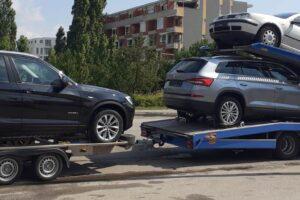 53. Транспорт, превоз, платформа, автовоз от Германия до България на BMW X5, Skoda Kodiaq, VW Golf до КАТ София