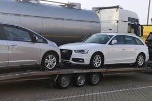 59. Транспорт, превоз, платформа, автовоз от Германия до България на BMW 220d Gran Tourer, BMW 5, Audi A4, Honda Jazz от Германия до България