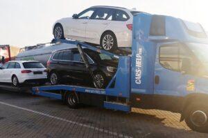 60. Транспорт, превоз, платформа, автовоз от Германия до България на BMW 220d Gran Tourer, BMW 5, Audi A4, Honda Jazz от Германия до България