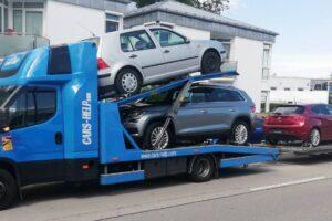 62. Транспорт, превоз, платформа, автовоз от Германия до България на Skoda Kodiaq, VW Golf, Alfa Romeo, VW Golf 7 от Германия до България